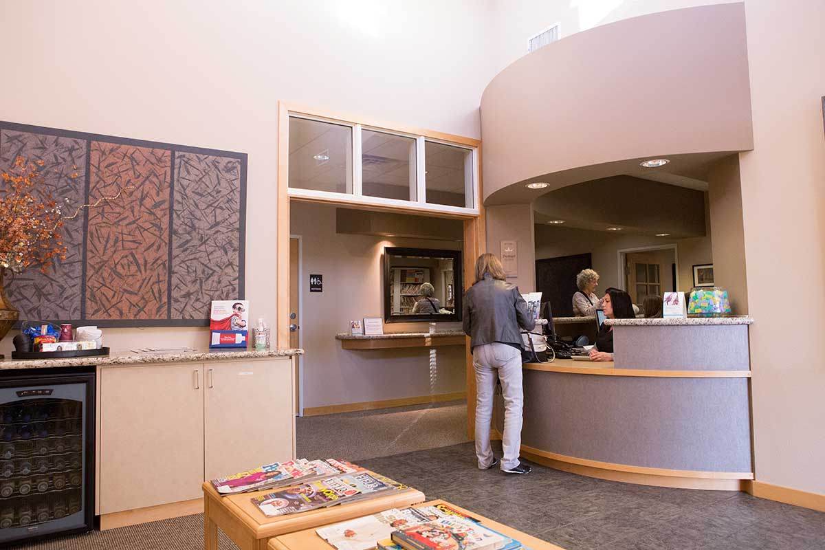 The Moore & Pascarella waiting room in our Redding, CA office.